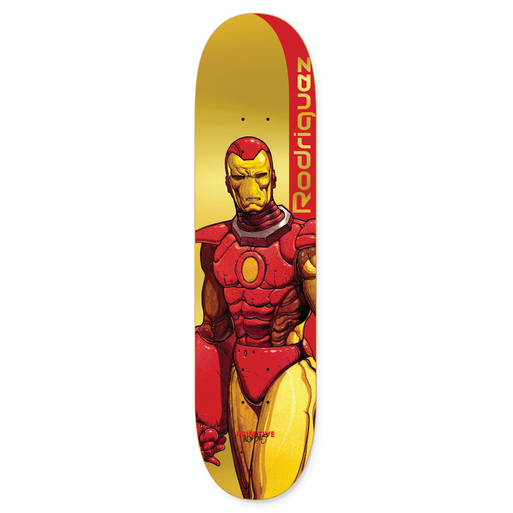 "Marvel - Moebius x Rodriguez Iron Man 8.125"" Primitive Skateboard Deck"