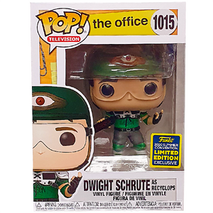 The Office - Dwight Schrute as Recyclops (Helmet) SDCC 2020 Exclusive Pop! Vinyl Figure