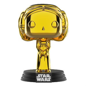 Star Wars - Princess Leia Gold Chrome SWC 2019 Exclusive Pop! Vinyl Figure