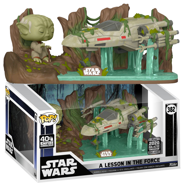 Star Wars The Empire Strikes Back - A Lesson in the Force (Yoda Lifting X-Wing) SWC 2020 Exclusive Pop! Vinyl Deluxe