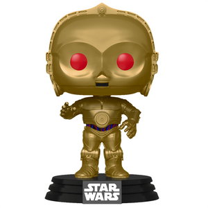 Star Wars The Rise of Skywalker - C-3PO with Red Eyes Metallic Pop! Vinyl Figure