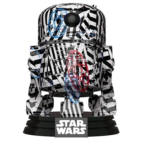 Star Wars - R2-D2 (Futura) US Exclusive Pop! Vinyl Figure w/Pop! Stacks Protector