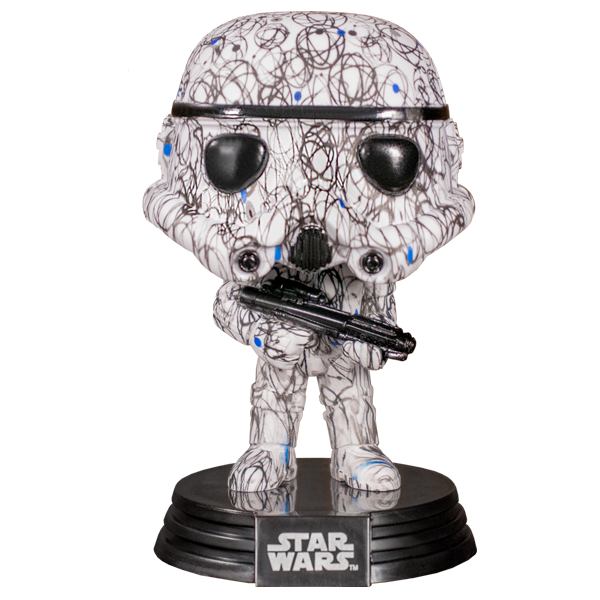 Star Wars - Stormtrooper (Futura) US Exclusive Pop! Vinyl Figure w/Pop! Stacks Protector