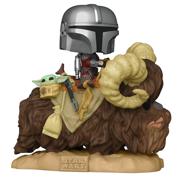 Star Wars The Mandalorian - The Mandalorian & The Child on Bantha Pop! Deluxe Vinyl Figure