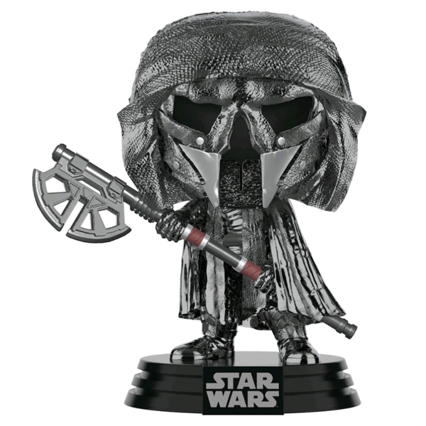 Star Wars The Rise of Skywalker - Knight of Ren with Long Axe Hematite Chrome Pop! Vinyl Figure