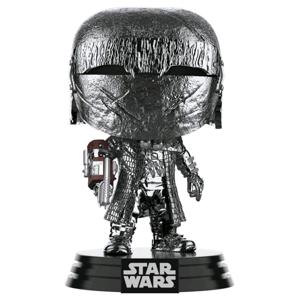 Star Wars The Rise of Skywalker - Knight of Ren with Arm Cannon Hematite Chrome Pop! Vinyl Figure