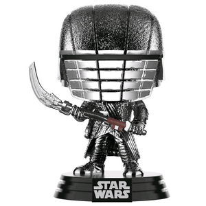 Star Wars The Rise of Skywalker - Knight of Ren with Scythe Hematite Chrome Pop! Vinyl Figure