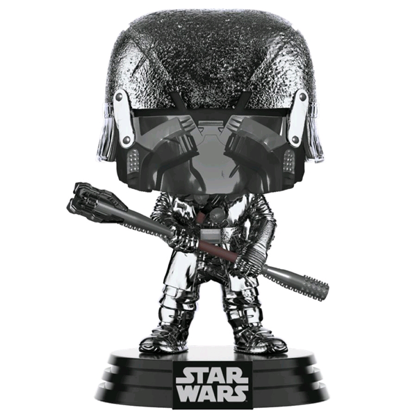Star Wars The Rise of Skywalker - Knight of Ren with War Club Hematite Chrome Pop! Vinyl Figure