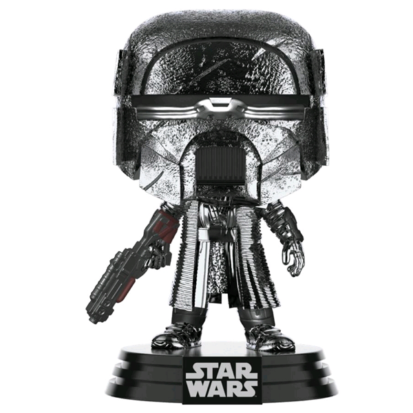 Star Wars The Rise of Skywalker - Knight of Ren with Blaster Rifle Hematite Chrome Pop! Vinyl Figure