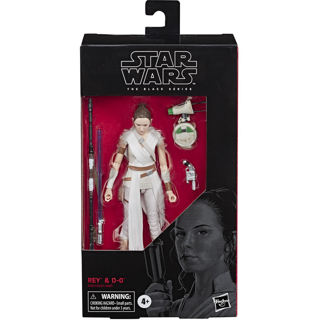 "Star Wars The Rise of Skywalker - Black Series 6"" Rey and D-O Action Figure"