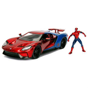 Spider-Man - 2017 Ford GT 1:24 Scale Die-Cast Car Replica with Spider-Man Figure