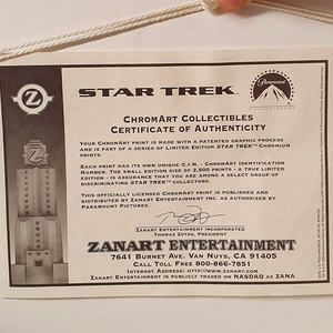 Star Trek - Phasers ChromArt Collectible Print