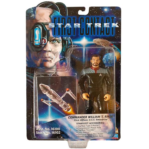 Star Trek First Contact - Commander William T. Riker Vintage Action Figure