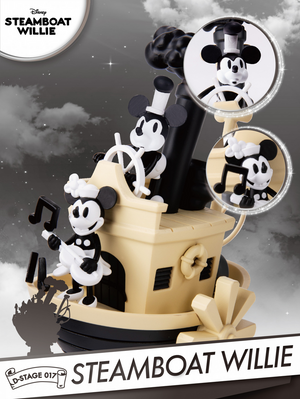 Disney - Steamboat Willie D-Stage Diorama Statue