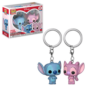 Disney - Stitch & Angel Pocket Pop! Keychain 2-Pack