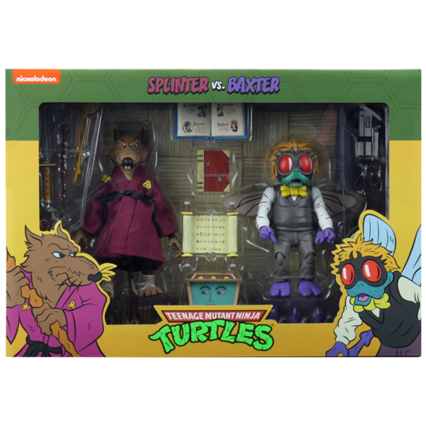 "Teenage Mutant Ninja Turtles (1987) - Splinter vs Baxter 7"" Action Figure 2-Pack"