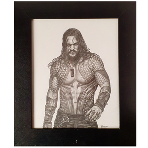 Artwork - Fine Art Pencil Sketch A4 with Frame - 'The Atlantian'