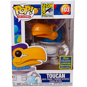 Ad Icons San Diego Comic Con - Toucan (Astronaut) (White) SDCC 2020 Exclusive Pop! Vinyl Figure