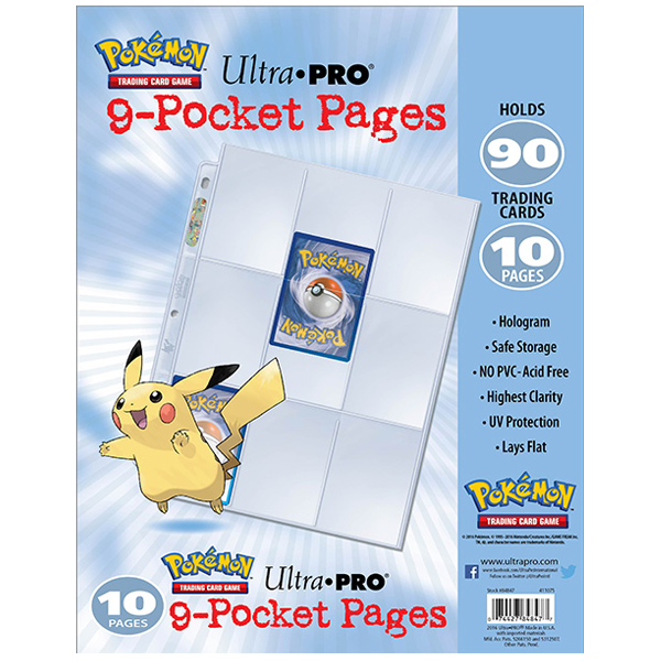 Ultra Pro - 9-Pocket Pages Pokemon Logo - Set of 10