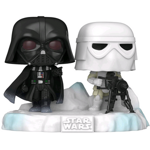Star Wars The Empire Strikes Back - Darth Vader & Snowtrooper US Exclusive Deluxe Pop! Vinyl Figure