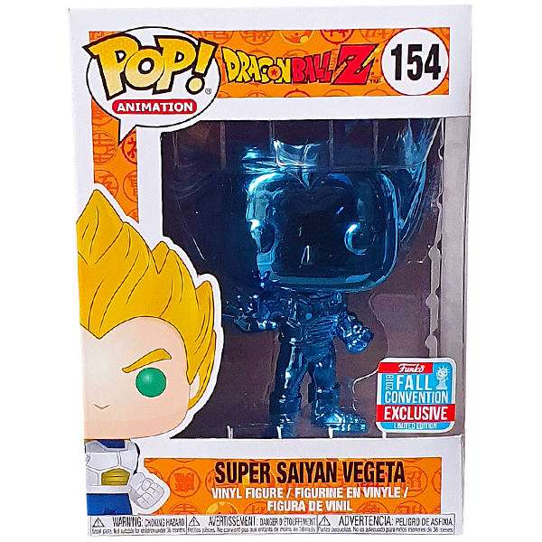Dragon Ball Z - Vegeta Blue Chrome NYCC 2018 Exclusive Pop! Vinyl Figure