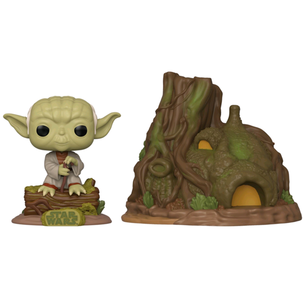 Star Wars The Empire Strikes Back - Dagobah Yoda with Hut Pop! Town