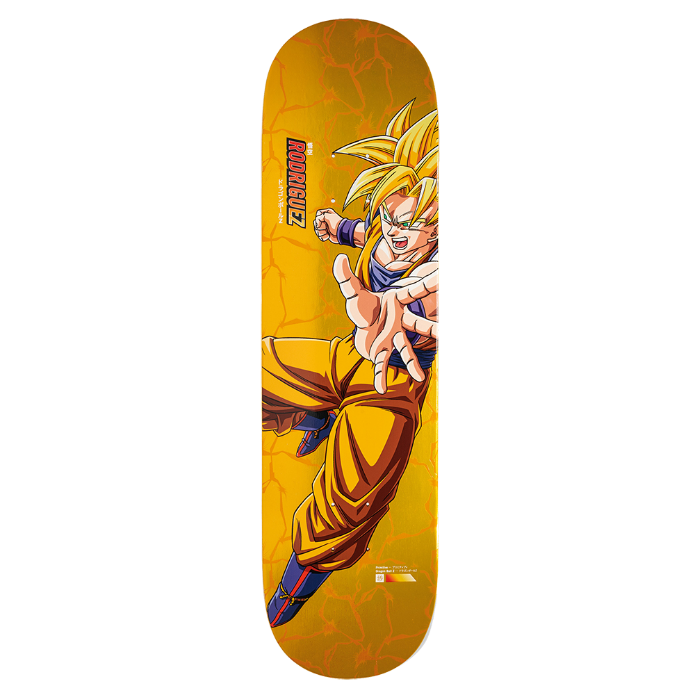 "Dragon Ball Z - DBZ x Rodriguez Super Saiyan Goku 8.5"" Primitive Skateboard Deck"