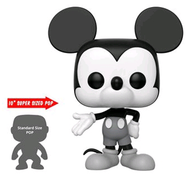 "Mickey Mouse 90th Anniversary - Mickey Mouse Black & White US Exclusive 10"" Pop! Vinyl Figure"