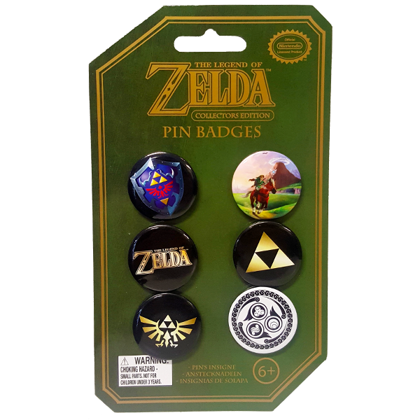 The Legend of Zelda - Collectable Pin Badges