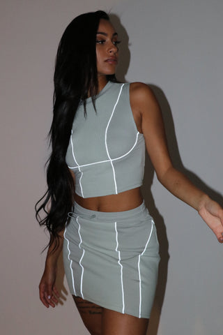 Futuristic Skirt Set