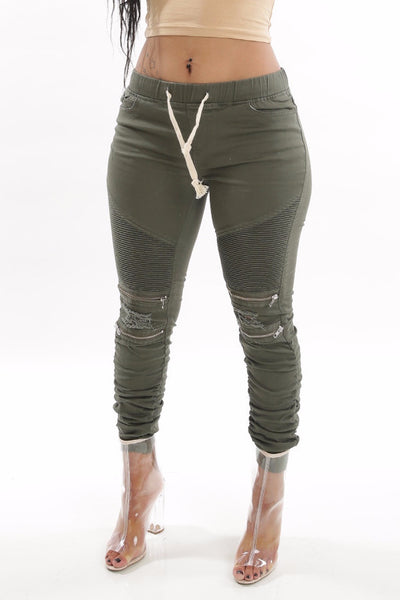 Moto Skinny Joggers - Dope Fein Boutique
