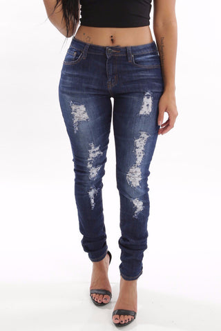 Perfect Fit Distressed Jeans