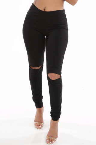 Slit Knee Leggings