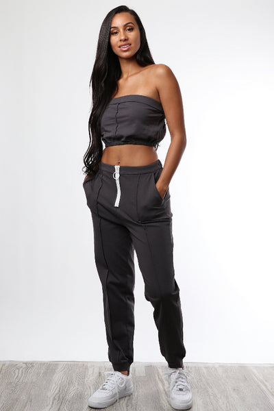Charcoal Grey Leisure Set - Dope Fein Boutique