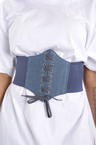 Denim Corset Belt - Dope Fein Boutique
