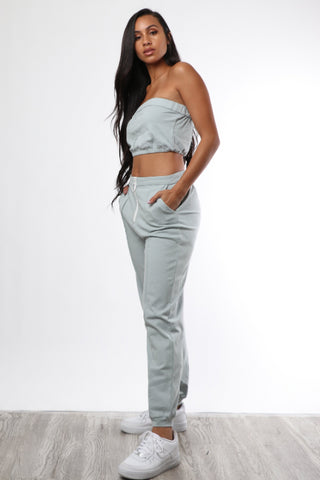Powder Blue Leisure Set - Dope Fein Boutique