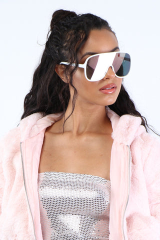 Cant See Me Shades - White - Dope Fein Boutique