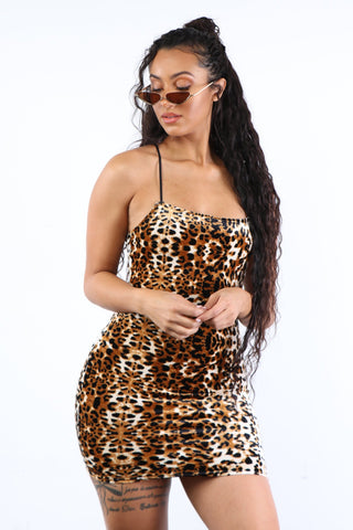 Leopard Print Dress - Dope Fein Boutique