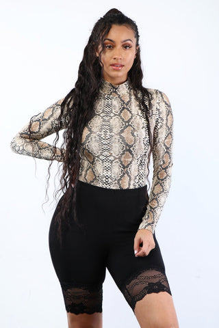 Black Lace Biker Shorts - Dope Fein Boutique
