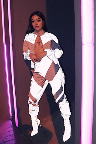 Reflective Lightning Tracksuit - Pink - Dope Fein Boutique