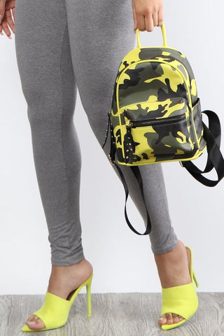Neon Camo Backpack - Dope Fein Boutique
