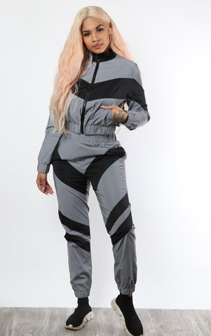 Reflective Lightning Tracksuit - Black - Dope Fein Boutique
