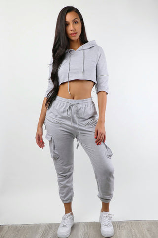 Heather Grey Zipped Sweatsuit - Dope Fein Boutique