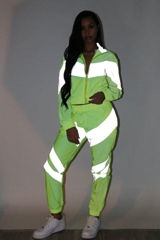 Reflective Lightning Tracksuit - Neon - Dope Fein Boutique