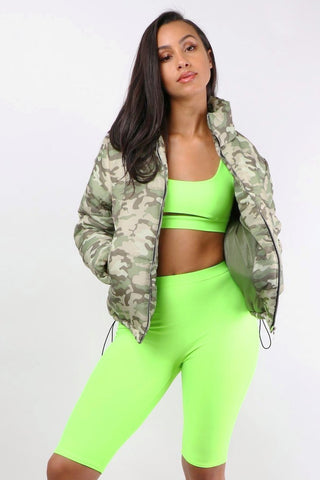 Camo Puffer Coat - Dope Fein Boutique