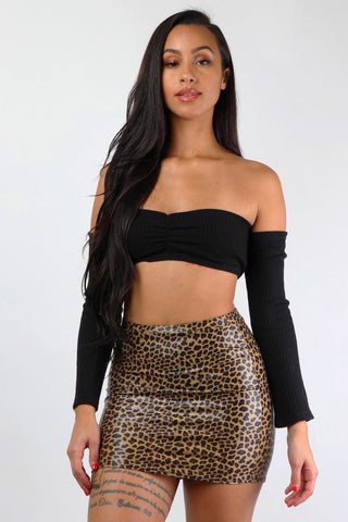 Dangerous Cheetah Mini Skirt - Dope Fein Boutique