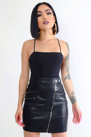 Badass Faux Leather Skirt