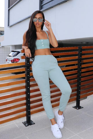 Sage French Terry Jogger Set - Dope Fein Boutique