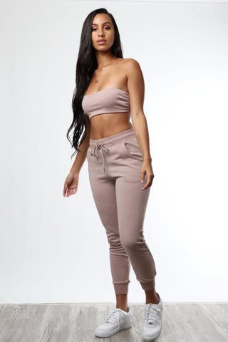 Butterscotch French Terry Jogger Set - Dope Fein Boutique