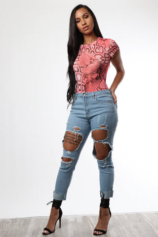 Show Off Ripped Jeans - Dope Fein Boutique